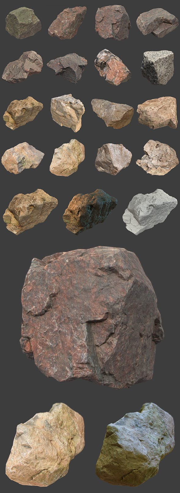 Stones Pack Volume 7 - 3DOcean Item for Sale