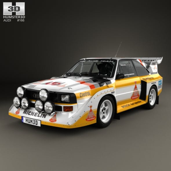 Audi Quattro Sport S1 E2 1985 - 3DOcean Item for Sale
