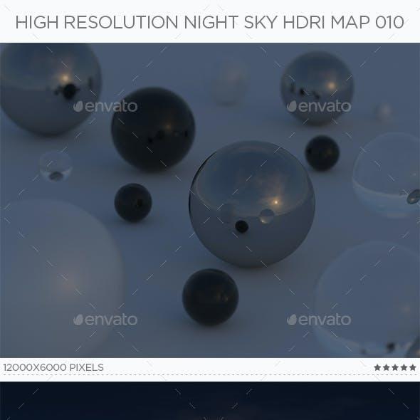 High Resolution Night Sky HDRi Map 010