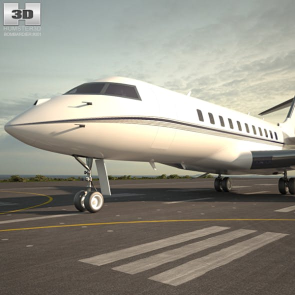 Bombardier Global Express - 3DOcean Item for Sale