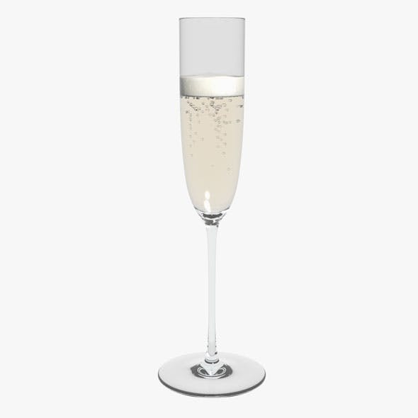 Glass Riedel Superleggero Champagne Flute With Wine
