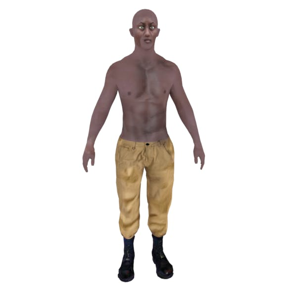 Male soldier base character - 3DOcean Item for Sale