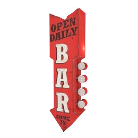 Bar street sign - 3DOcean Item for Sale