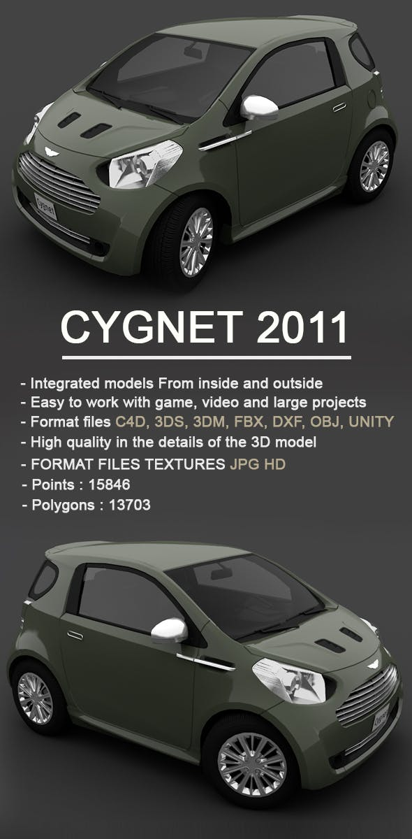 Cygnet car 2011 - 3DOcean Item for Sale