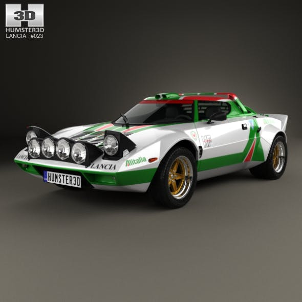 Lancia Stratos Rally 1972 - 3DOcean Item for Sale