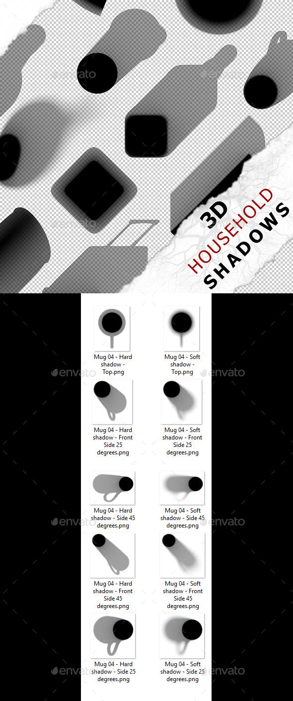3D Shadow - Mug 04 - 3DOcean Item for Sale