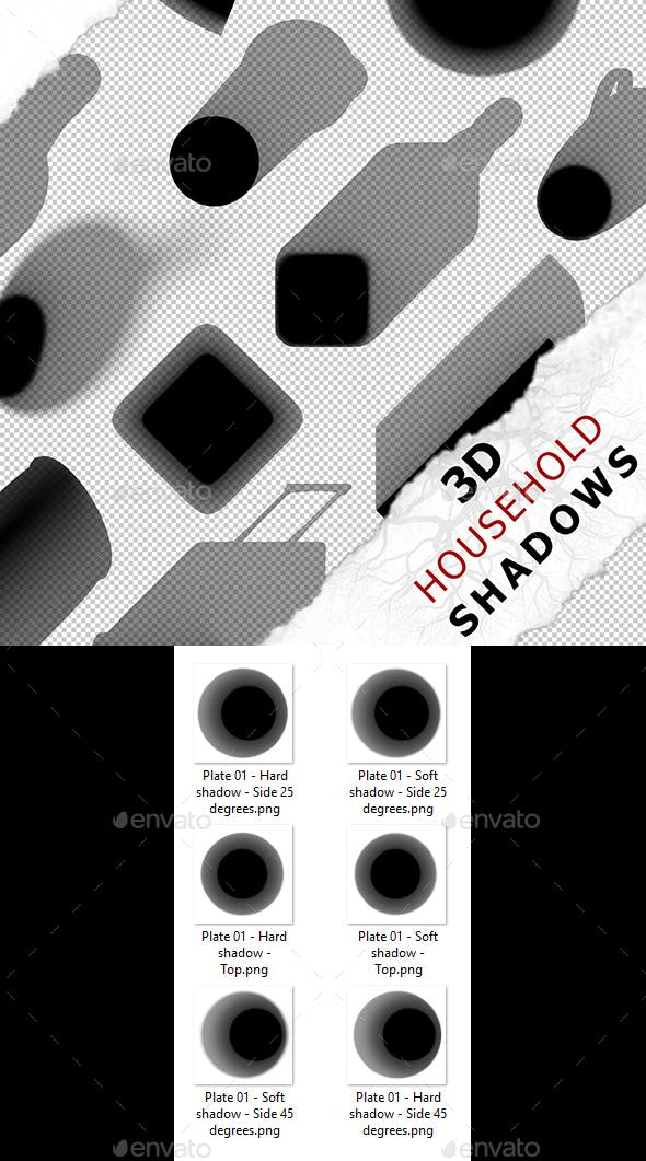 3D Shadow - Plate 01 - 3DOcean Item for Sale