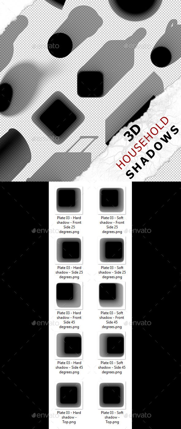 3D Shadow - Plate 03 - 3DOcean Item for Sale