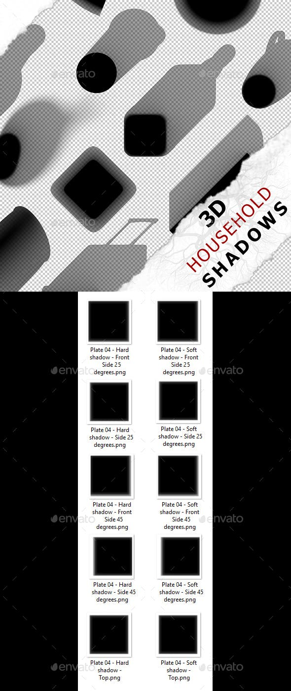3D Shadow - Plate 04 - 3DOcean Item for Sale