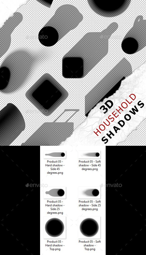 3D Shadow - Product 05 - 3DOcean Item for Sale
