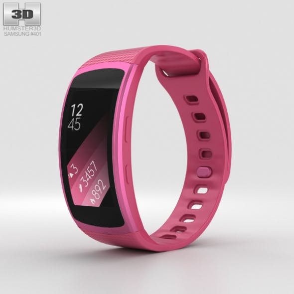 Samsung Gear Fit 2 Pink - 3DOcean Item for Sale