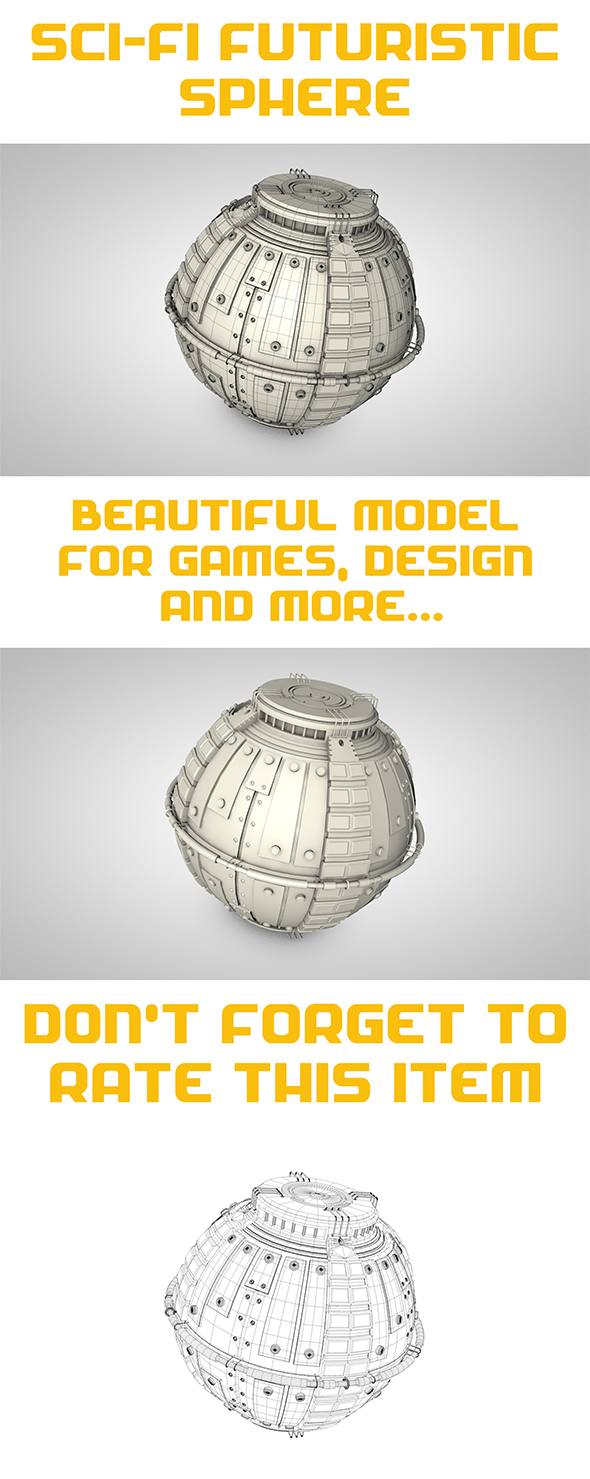 Sci-Fi Sphere - 3DOcean Item for Sale