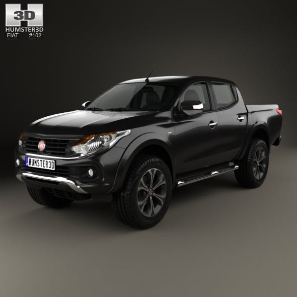 Fiat Fullback Double Cab 2016 - 3DOcean Item for Sale
