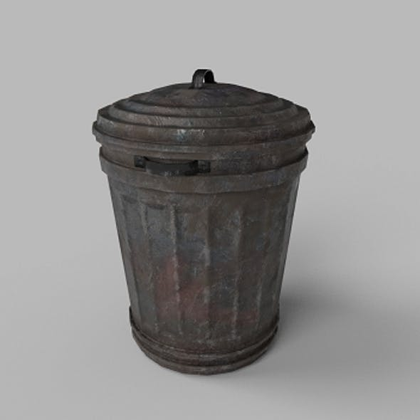 TRASH CAN LOW-POLY