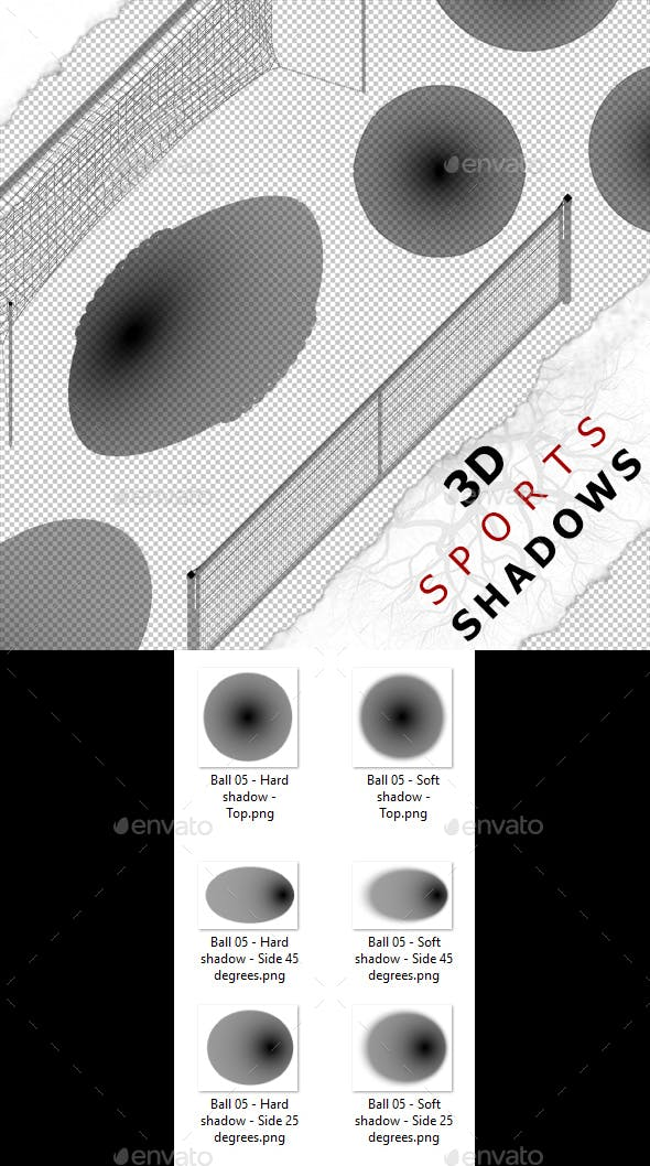 3D Shadow - Ball 05 - 3DOcean Item for Sale