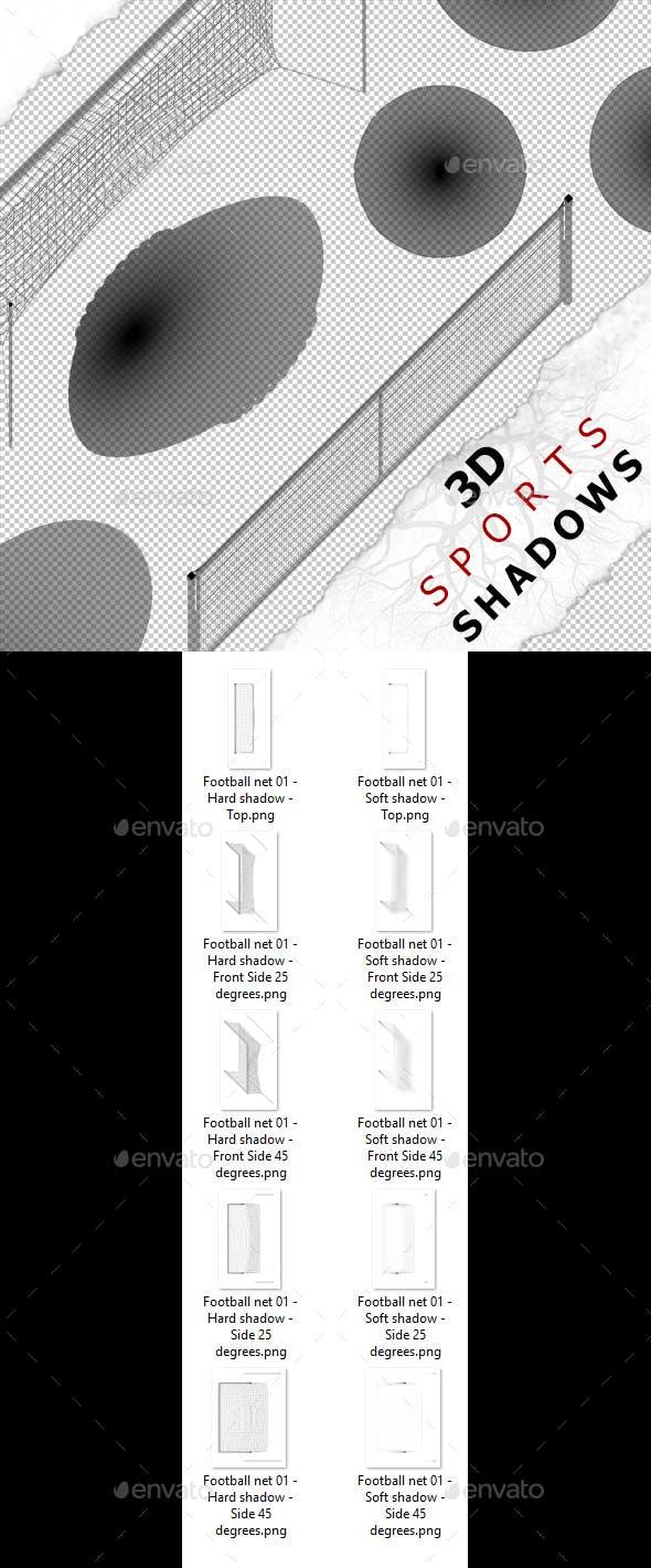 3D Shadow - Football Net 01 - 3DOcean Item for Sale