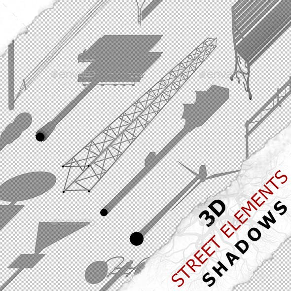 3D Shadow - Street Elements 01