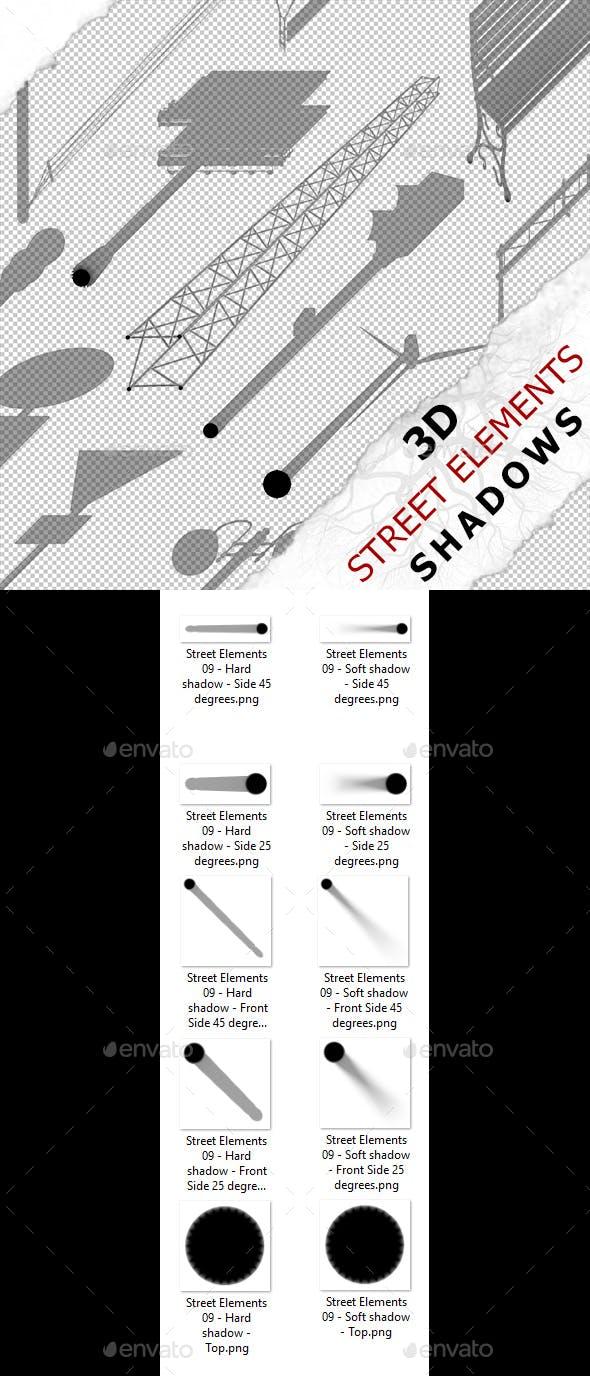 3D Shadow - Street Elements 09 - 3DOcean Item for Sale