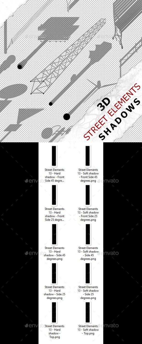 3D Shadow - Street Elements 13 - 3DOcean Item for Sale