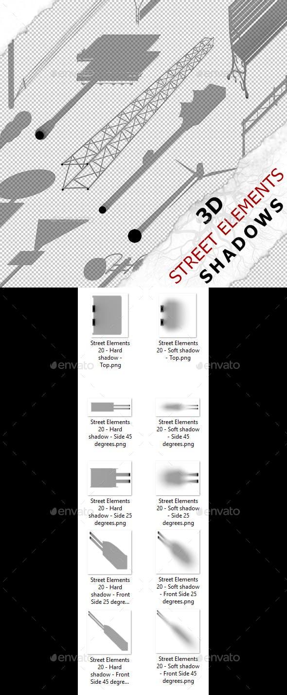 3D Shadow - Street Elements 20 - 3DOcean Item for Sale