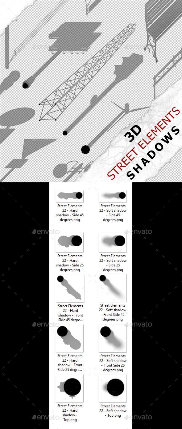 3D Shadow - Street Elements 22 - 3DOcean Item for Sale