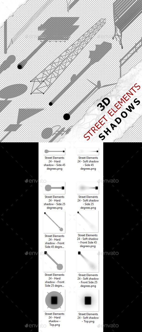 3D Shadow - Street Elements 24 - 3DOcean Item for Sale