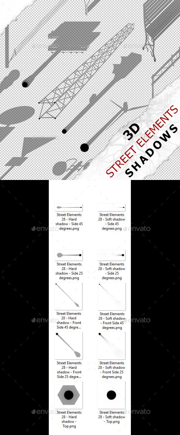 3D Shadow - Street Elements 28 - 3DOcean Item for Sale