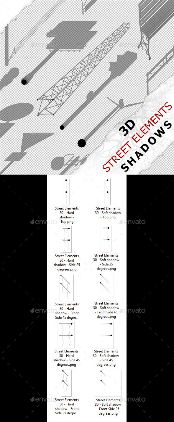 3D Shadow - Street Elements 30 - 3DOcean Item for Sale