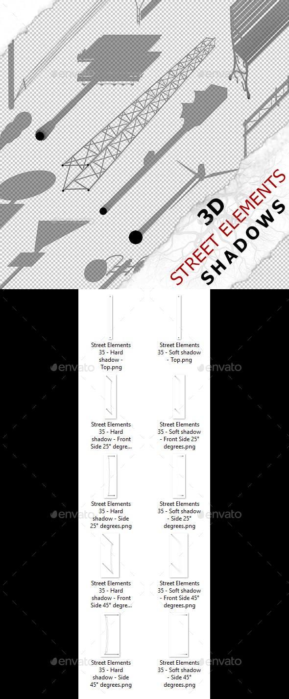 3D Shadow - Street Elements 35 - 3DOcean Item for Sale
