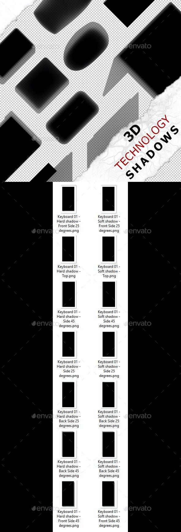 3D Shadow - Keyboard 01 - 3DOcean Item for Sale