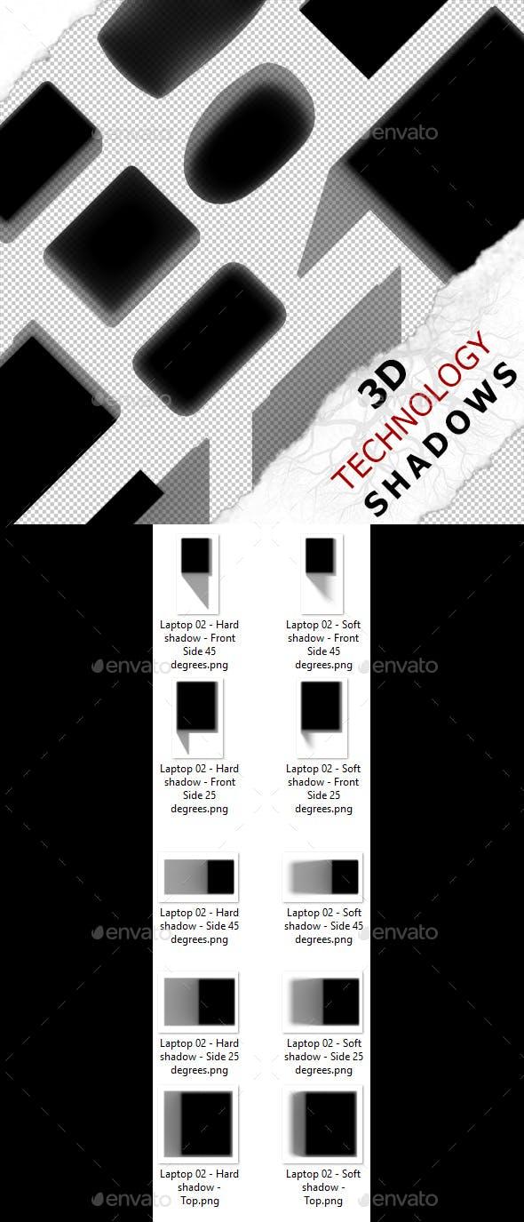 3D Shadow - Laptop 02 - 3DOcean Item for Sale