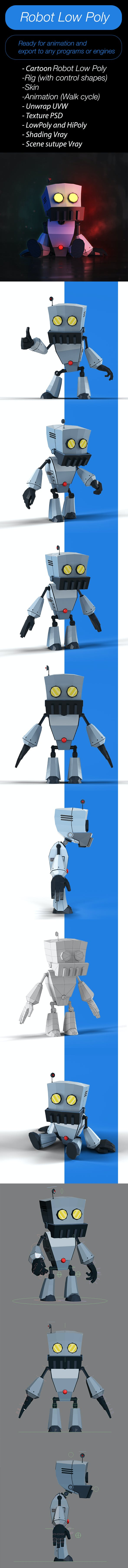 Robot_LowPoly - 3DOcean Item for Sale