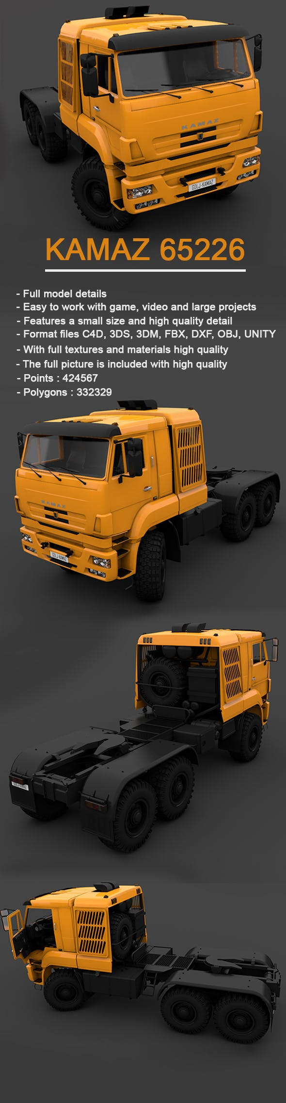 Kamaz Truck 2010 - 3DOcean Item for Sale