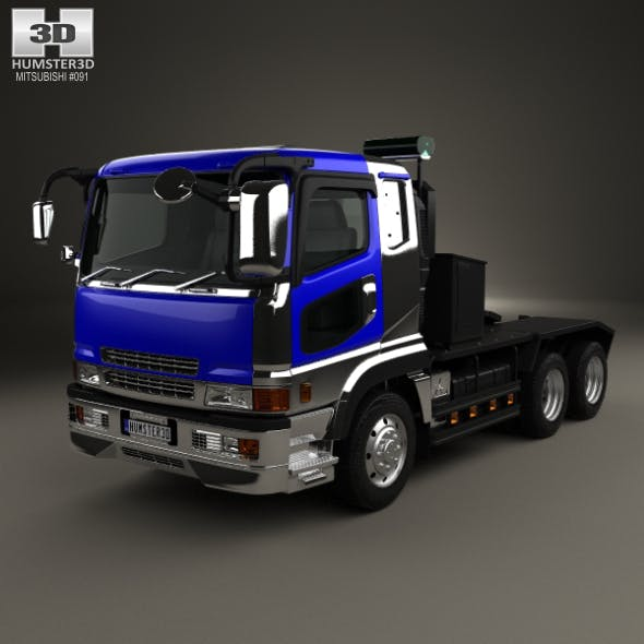 Mitsubishi Fuso Super Great (FP) Tractor Truck 1996 - 3DOcean Item for Sale