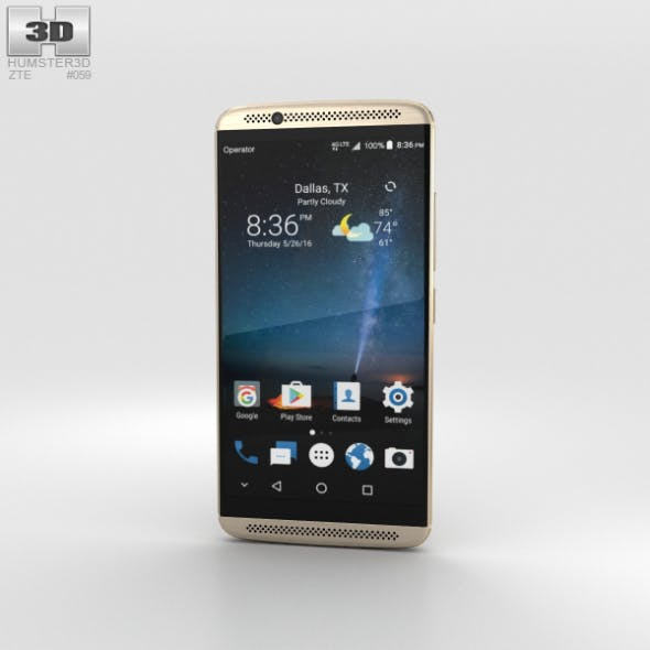 ZTE Axon 7 Ion Gold - 3DOcean Item for Sale