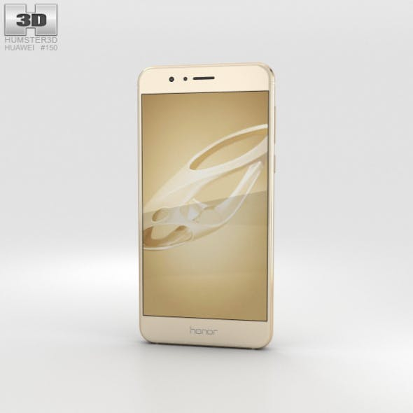 Huawei Honor 8 Sunrise Gold - 3DOcean Item for Sale