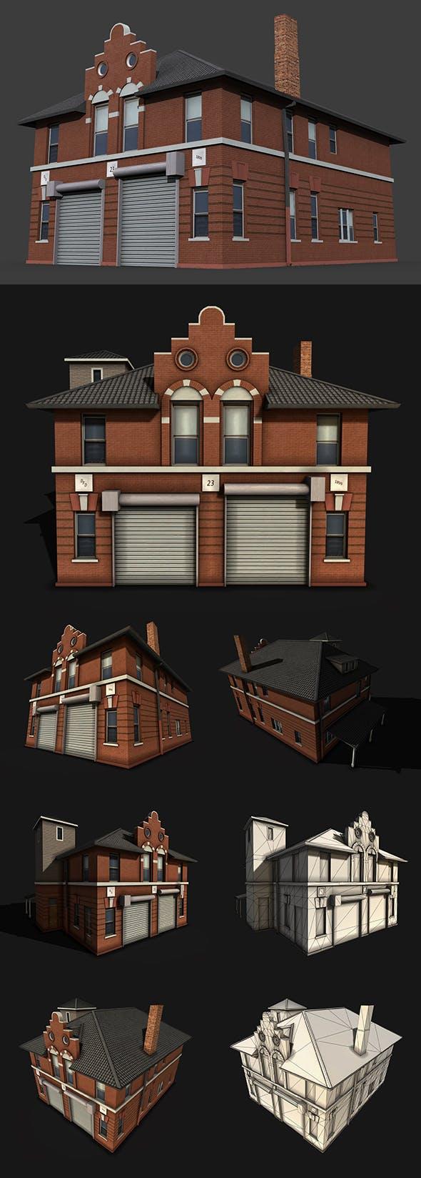 Fire Department Building - 3DOcean Item for Sale