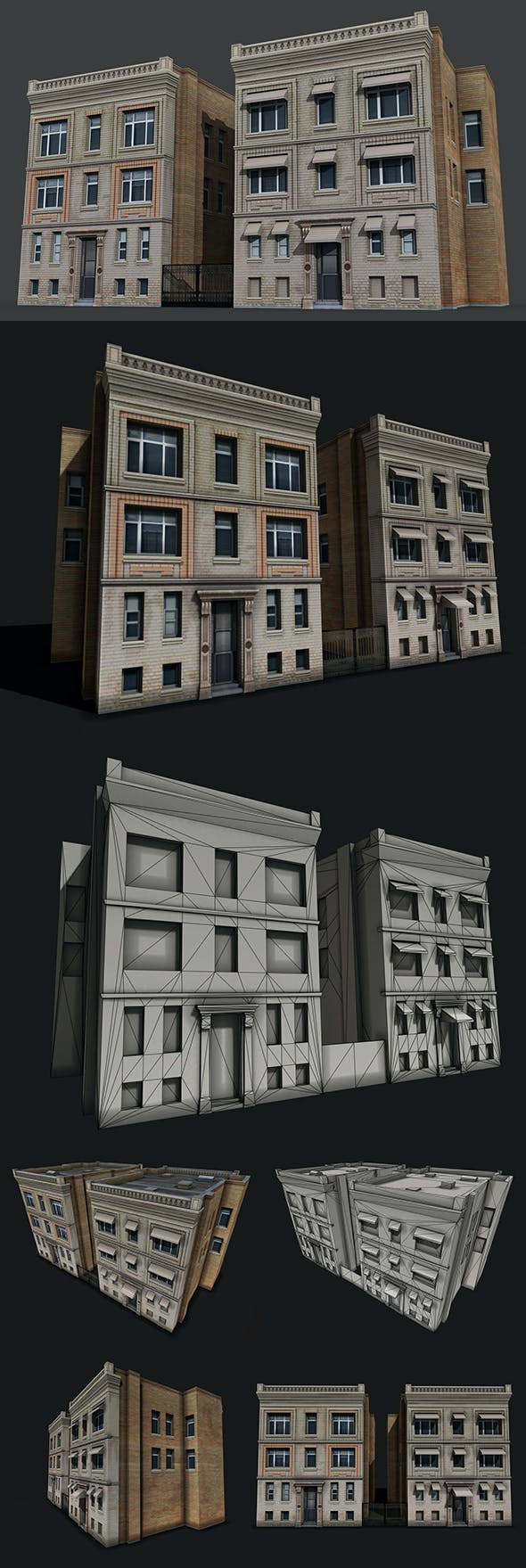 Two Downtown Buildings - 3DOcean Item for Sale
