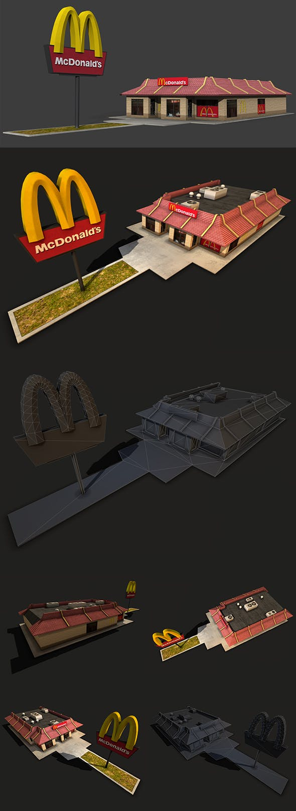 McDonalds Restaurant - 3DOcean Item for Sale
