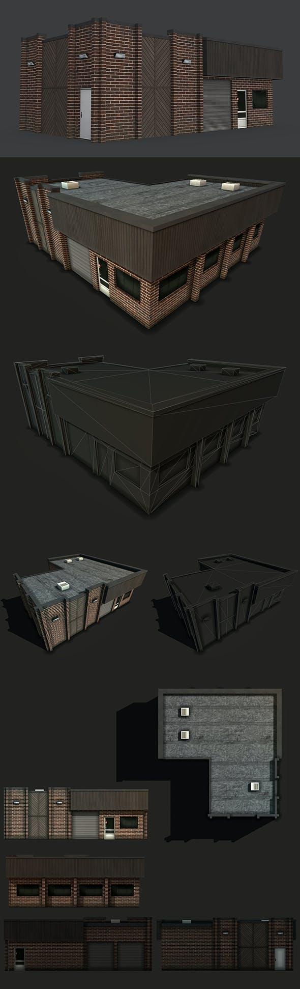 Car Workshop Building - 3DOcean Item for Sale