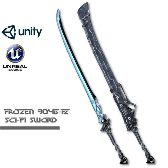 Sci-fi Frozen Sword - 3DOcean Item for Sale