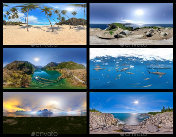 Environment Panoramas PACK #1 - Beaches, Islands & Lakes - 3DOcean Item for Sale