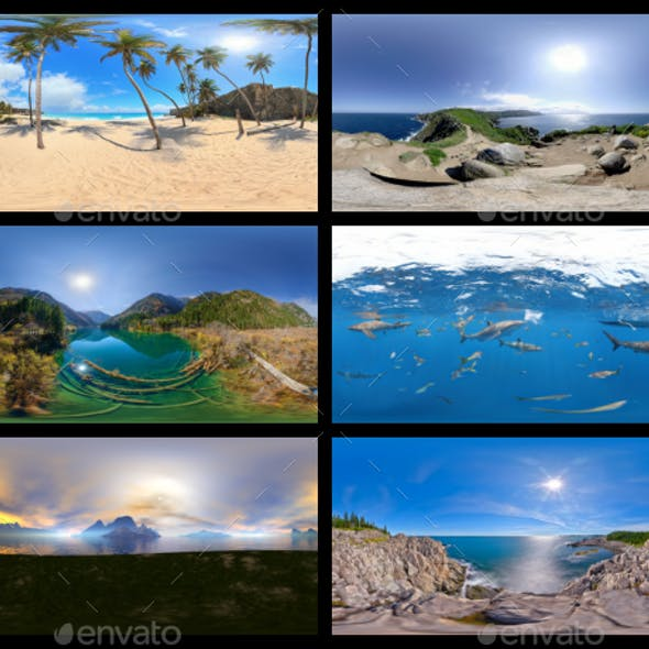 Environment Panoramas PACK #1 - Beaches, Islands & Lakes
