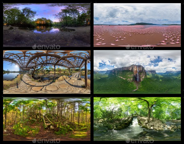 Environment Panoramas PACK #2 - Parks, Forests & Rivers - 3DOcean Item for Sale