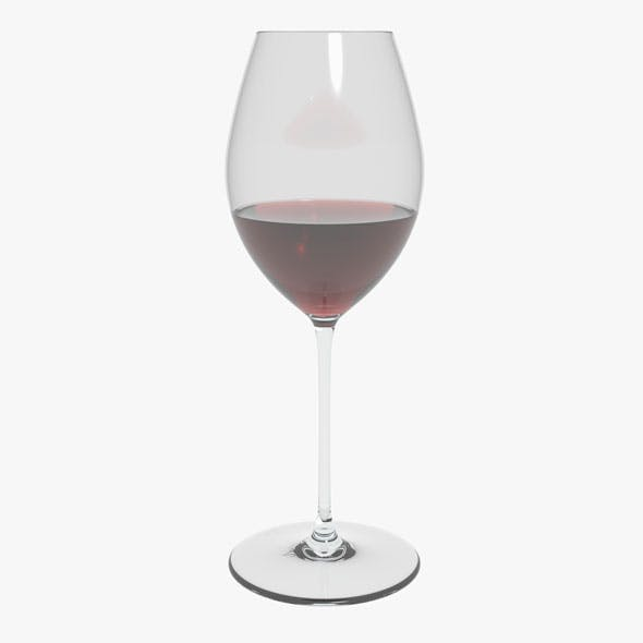 Glass Riedel Superleggero Hermitage With Wine - 3DOcean Item for Sale
