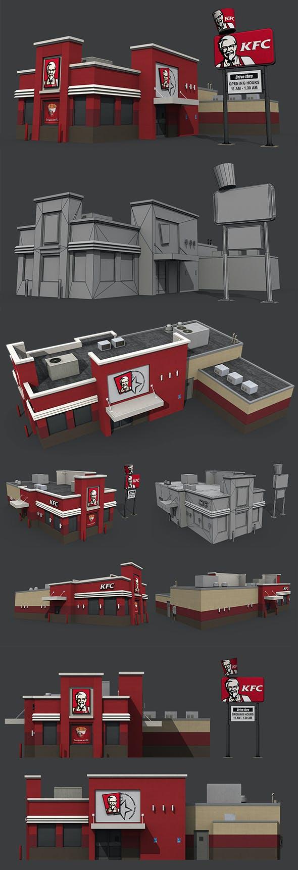 KFC Restaurant - 3DOcean Item for Sale