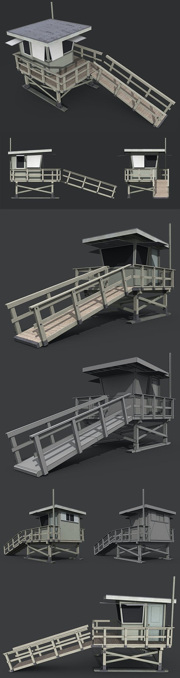 Lifeguard Tower - 3DOcean Item for Sale
