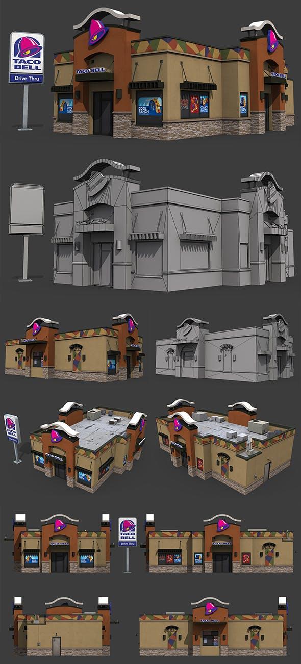 Taco Bell Restaurant - 3DOcean Item for Sale