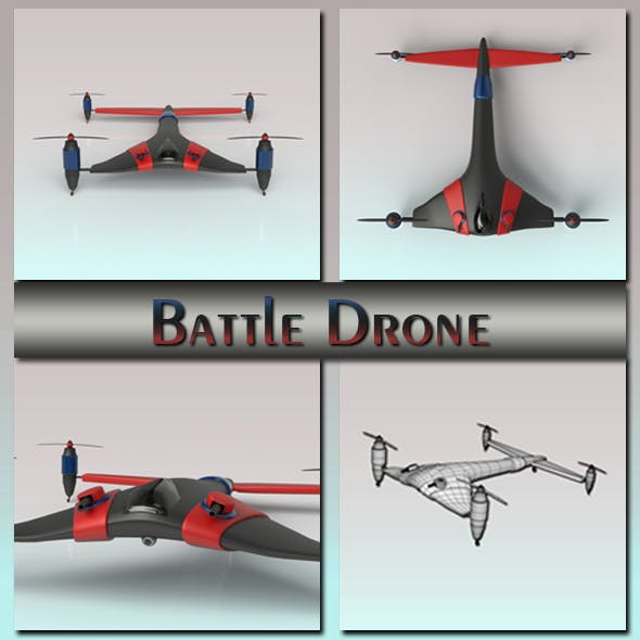Battle Drone - 3DOcean Item for Sale