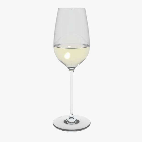 Glass Riedel Superleggero Riesling With Wine